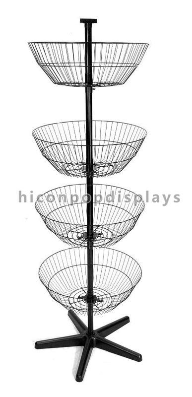 Drehender SpinnerGestellAusstellungsstandBoden Der 40 ReihenKorb Custom Spinner Display Stands